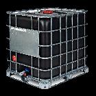 IBC-Container 1000l neu Ex-Geschützt auf Stahlpalette schwarzer Innenbehälter