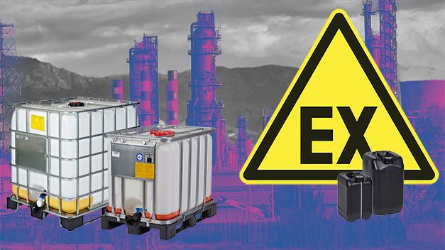Die ex-geschützten leitfähigen 1000l IBC-Container sind mit einer Erdung ausgestattet
