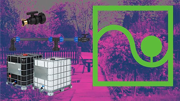 Fässer und IBC-Container können im Garten für die Bewässerung eingesetzt werden
