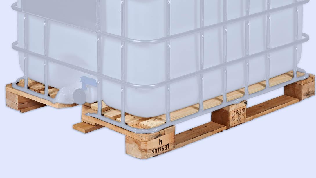Unsere Holzpaletten sind für IBC-Container mit 1000l geeignet