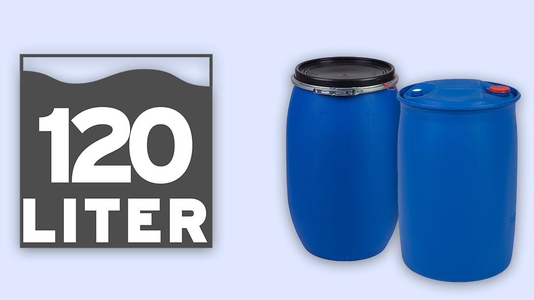 Ein Kunststoffspundfass eignet sich für die Aufnahme von Flüssigkeiten
