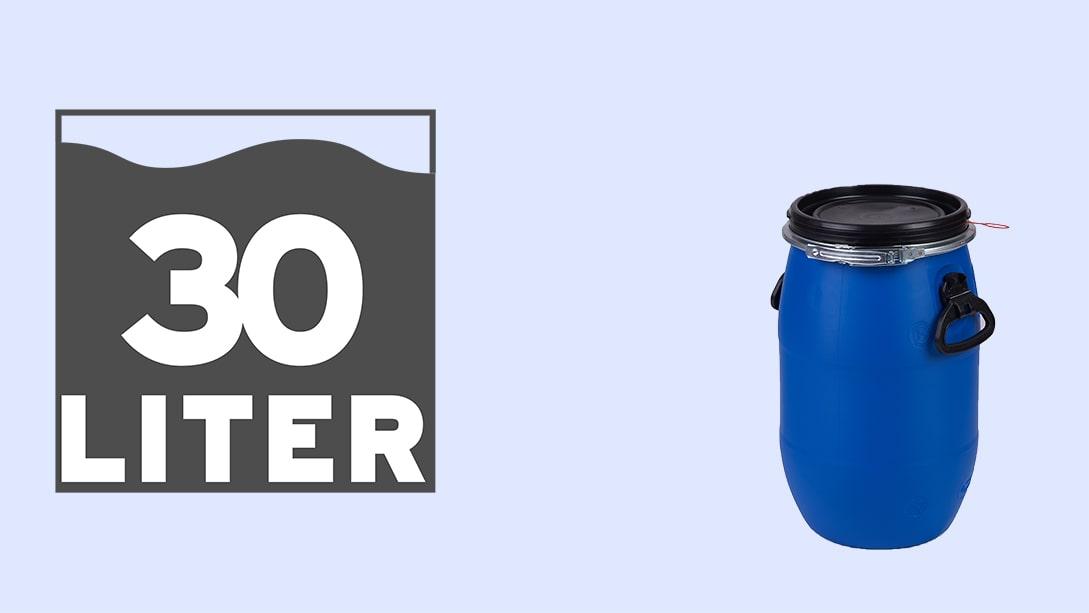 Kunststofffass mit 60l Fassungsvermögen